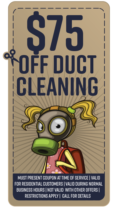 Coupon duct cleaning